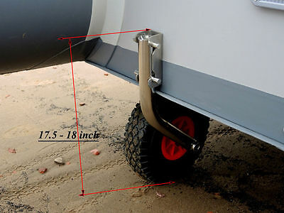 Launching Wheels STAINLESS STEEL for Inflatable / Aluminum boats QUICK RELEASE