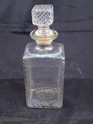 VTG Old Mr. Boston Genie Whiskey Decanter - Clear Glass 1948