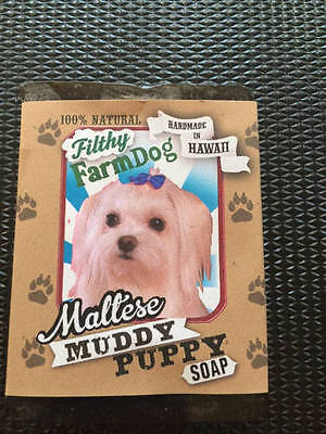 Maltese / Bar of Dog Soap / Fun Graphics / Unique Gift / All Natural
