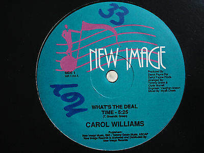 """CAROL WILLIAMS What's The Deal / Have You For My Love US 12"""" Mint Boogie modern"""