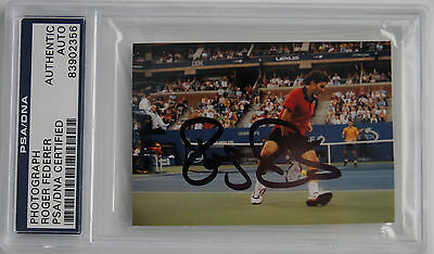 Roger Federer Psa Dna Certified Signed Photograph Picture Autograph Us Open