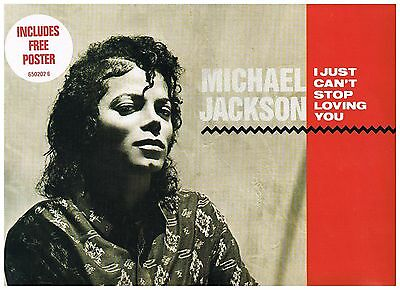 """MICHAEL JACKSON I Just Can't Stop loving You UK 12"""" Ltd Poster 1st Press A1-B1."""