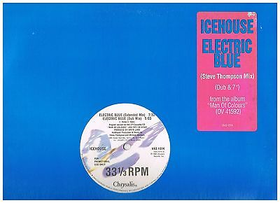 ICEHOUSE Electric Blue UK Promo 4 Mixes Duran Depeche Mode A-ha Omd Synth
