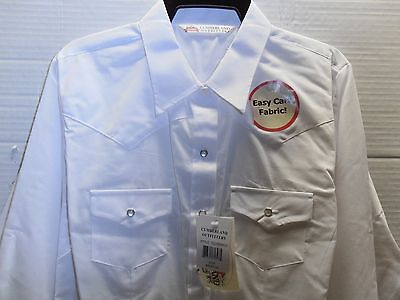 Cumberland Outfitters Ladies Long Sleeve White Western Rodeo Show Ranch Shirt