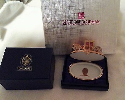 Faberge Limoges small Carriage box--boxed like new