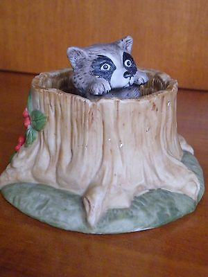 """Raccoon Figurine  by Jacquiline B. Smith 1984 """"THE FRANKLIN MINT"""""""
