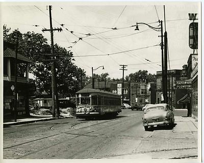 6FF664 RP 1950s CLEVELAND TRANSIT SYSTEM CAR #4058 DENISON AVE WEST 100th WYE