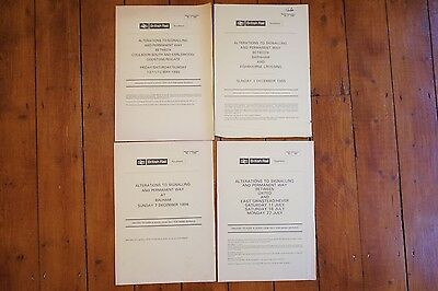 1985-1987 Southern Region Railway Signal Box Signalling Diagrams x4
