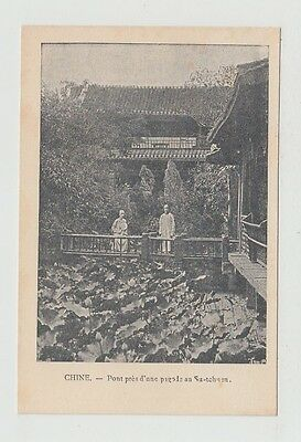 China Old Postcard Franciscaine Mission Chinese Garden Su Tchuen !!