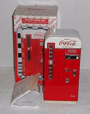 "1994 Enesco Coca Cola ""It's The Real Thing"" Collectible Musical Bank"