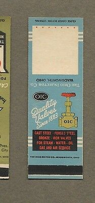 The Ohio Injector Co Valves Wadsworth Ohio Flat Matchcover A417