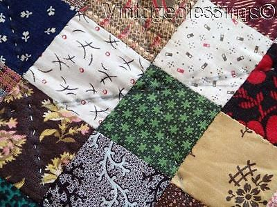 Never Used ANTIQUE Generational QUILT Fabulous Fabrics 1880-1930