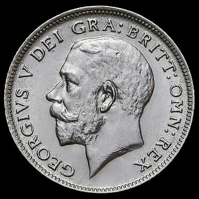 1922 George V Silver Sixpence – A/UNC