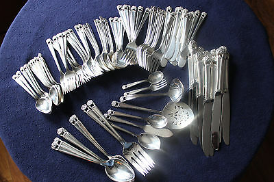 1847 Rogers Bros ETERNALLY YOURS Silverplate 99 Pc. Service for 12 + Serving Set