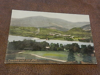 Early Frith Postcard -Coniston & Old Man - Cumbria -Lake District