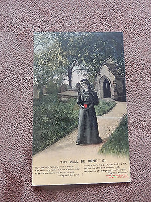 Bamforth Song Postcard-World War WW 1- Thy Will be done -4514/1
