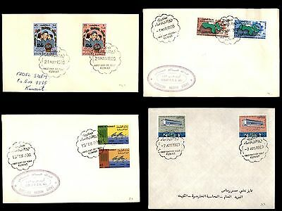 Kuwait First Day Cover Group 1966 - 1976 Mother's Day Development