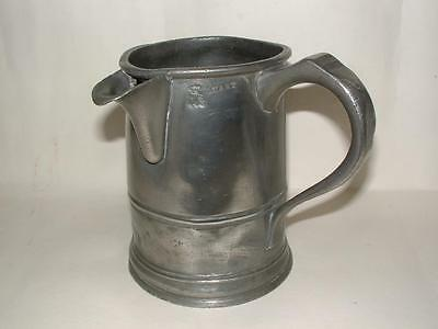 C.w. Antique Pewter Tankard With Spout Mug Jug Pint Measure Green Dragon Waltham