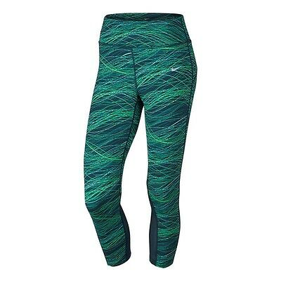 New Women's Nike Power Epic Lux 3/4 Capri Running Tights Size Small 10