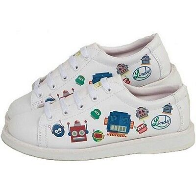 Youth Boys Linds Bot Bowling Ball Shoes Color White Size  2