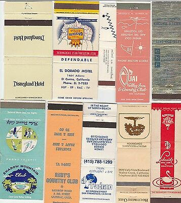Lot Of 20 Different California Matchbook Covers.  #11