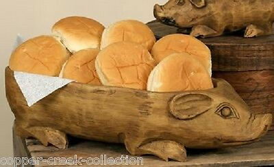 BiG Pig BOWL*Table Centerpiece*Primitive/French Country Decor*Bread/Roll Server