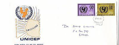 Swaziland 1972 - U.N.I.C.E.F  First Day Cover. - . Addressed