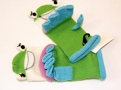 D & Y CRITTER KINGDOME FROG Gloves Child Convertible Fingerless to Mittens NWT