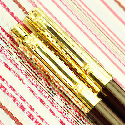Vintage EVERSHARP FIFTH AVENUE 64 SOLID GOLD Fountain Pen Pencil BOXSET RARE