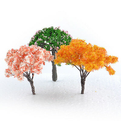 3pcs DIY Mini Tree Miniature Dolls' House Garden Accessory Plant Fairy Ornament