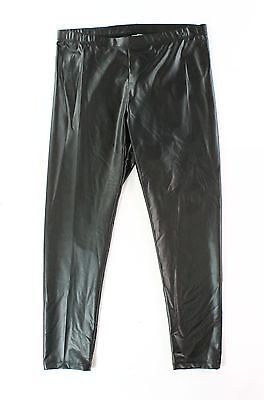 Mia Chica NEW Black Girls Size XL Faux Leather Skinny Leggings Pants #585 DEAL