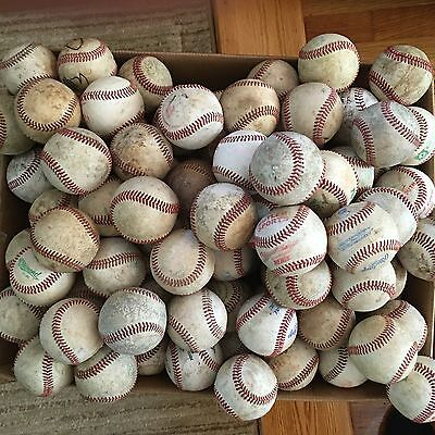 Lot of 32 USED Leather Baseballs-Practice Balls FREE SHIPPING !!!