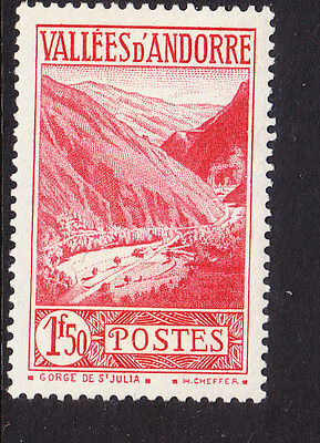 Andorra 1932 Gorge - 1f50. Red.F60 - MH