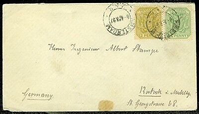 TRANSVAL : 1897 cover to Germany.