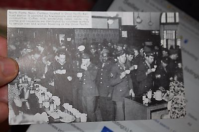 Union Pacific North Platte NE Canteen Integrated WWII Color Troops Post Card