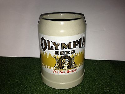 "Vintage Olympia Beer Its The Water Tumwater 5.5"" Ceramic Stein Mug"