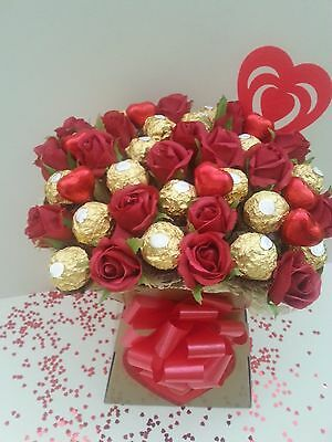 VALENTINES DAY Ferrero Rocher Chocolate Bouquet Sweet Tree Hamper - Perfect Gift