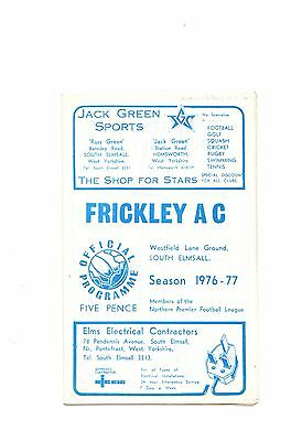 1976-1977 Frickley v Buxton CUP