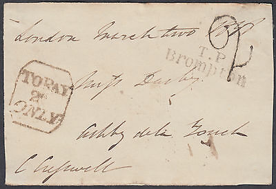 To Pay 2d Only Cachet;London/Brompton: Ashby de La Zouch(Leics)Free Frank FRONT