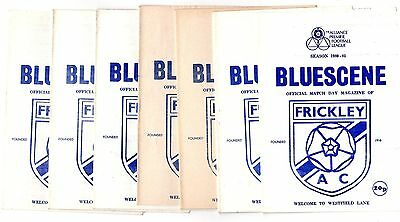 1980-1981 Frickley Home Programmes - select the one you want POST FREE