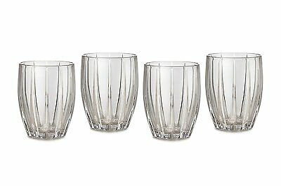 New Marquis By Waterford 4 Pc Omega Crystal,double Old Fashioned Water Glasses