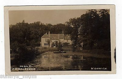 Norfolk, Norwich, Cringleford, The Hall And Moat, 1913, Rp