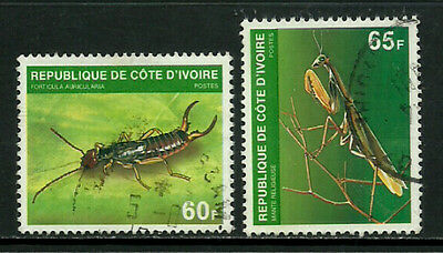 Ivory Coast #563-4 Used Set - Insects - Bugs (a)