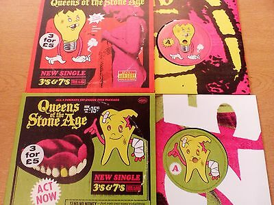 "Queens Of The Stone Age - 3's & 7's - 7"" singles x 2"