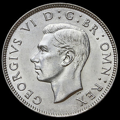 1944 George VI Silver Two Shilling Coin / Florin – G/EF