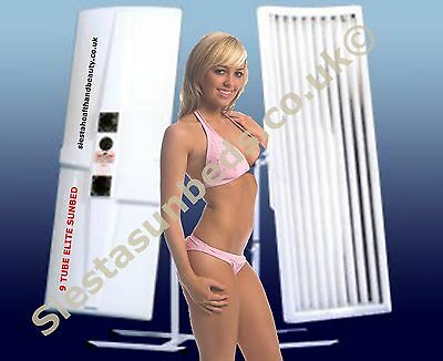 Elite 9 tube Canopy Sunbed 100watt Ex-Hire including FREE delivery to WARWICK