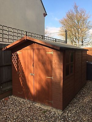 """Timber garden shed, 3x2m (10' x 6'7"""") Double door and windows"""
