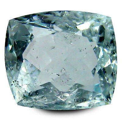 3.78 ct AAA Exquisite Cushion Shape (10 x 9 mm) Blue Aquamarine Natural Gemstone