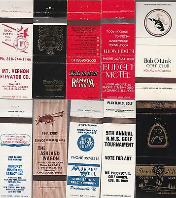 Lot Of 20 Different Illinois Matchbook Covers.  #6