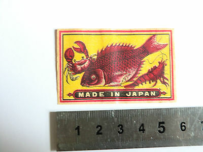 OLD MATCHBOX LABEL JAPAN A 23 See My Others Items Allumette Matches